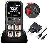 simvalley MOBILE Seniorenhandy: Senioren-Handy, Garantruf Premium, GPS-Ortung, 4 Kurzwahl-Foto-Tasten (Seniorenhandy mit Fototasten) - 3