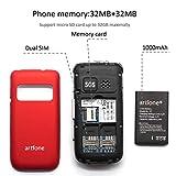 artfone C10 Seniorenhandy ohne Vertrag | Dual SIM | Dual Display Handy mit Notruftaste | Rentner Handy große Tasten | 2G GSM Klapphandy | Großtastenhandy mit Ladegerät und Kamera-Zeit - 2