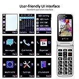 artfone C10 Seniorenhandy ohne Vertrag | Dual SIM | Dual Display Handy mit Notruftaste | Rentner Handy große Tasten | 2G GSM Klapphandy | Großtastenhandy mit Ladegerät und Kamera-Zeit - 6