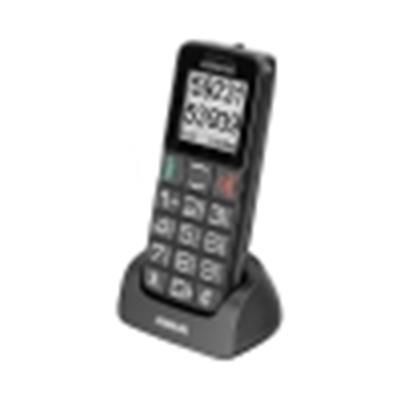 Audioline M4600 (902827) Rot bedienendes Notrufhandy mit großen beleuchteten Tasten (4,6 cm (1,8 Zoll), micro-USB) - 1