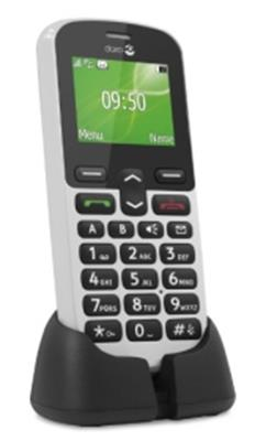 Doro PhoneEasy 508 GSM Mobiltelefon mit großem Farbdisplay (inkl. Ladeschale) weiß - 1