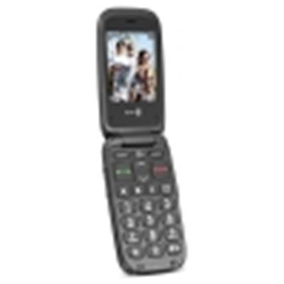 Doro PhoneEasy 612 GSM-Mobiltelefon Klapphandy (2 Megapixel Kamera, großen Tasten, UKW-Radio) schwarz-schwarz - 1