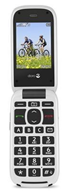 Doro PhoneEasy 613 Mobiltelefon im eleganten Klappdesign (2 MP Kamera, große Tasten und Display, Notruftaste) graphit-weiß - 1