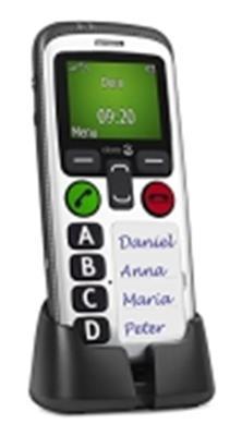 Doro Secure 580 GSM Mobiltelefon (4 Kurzwahltasten, Sicherheitstimer) schwarz-weiß - 1