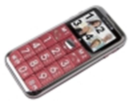 Olympia Großtasten Mobiltelefon,Seniorenhandy,SOS-Knopf,inkl. Ladeschale,Modell Chic II,rot - 1
